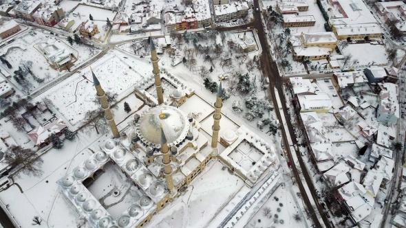 Edirne'de nefes kesen kar manzaraları