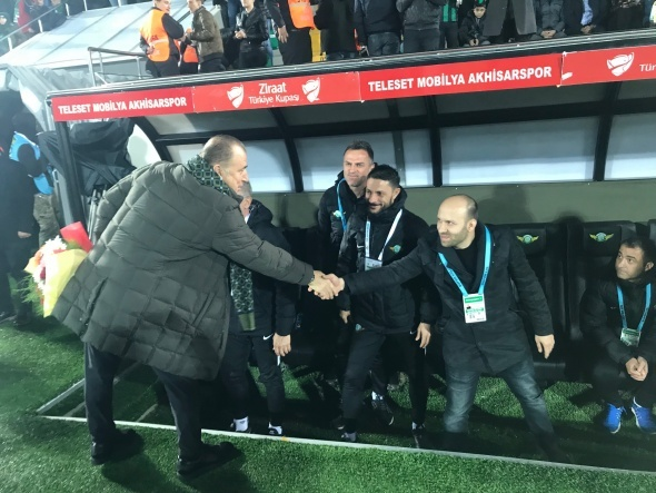 Akhisarspor - Galatasaray maçından kareler