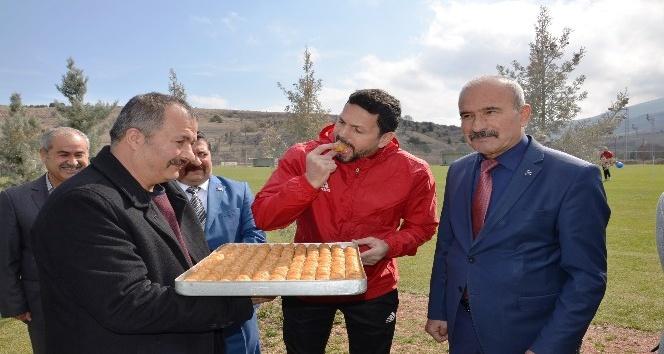 Evkur Yeni Malatyaspor'da neşeli antrenman