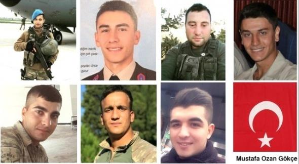 Ünlü isimlerden şehit düşen askerlerimiz için duygulandıran paylaşımlar