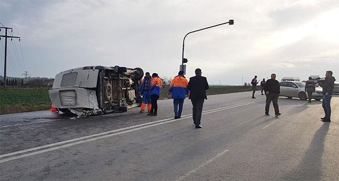 Öğrenci servisi kaza yaptı: 1 ölü, 12 yaralı