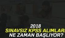 İlkokul,Lise,Ortaokul,Üniversite sınavsız memur alımı ne zaman 2018 !