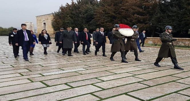 KKTC Başbakanı Erhürman Anıtkabir'de