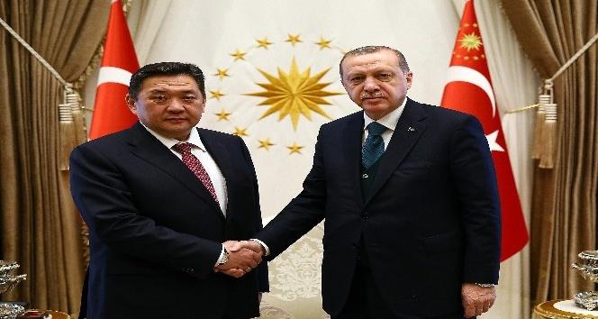 Cumhurbaşkanı Erdoğan, Moğolistan Meclis Başkanı Enkhbold'u kabul etti