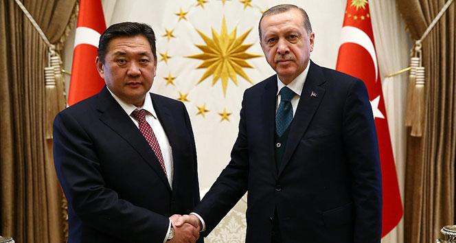 Cumhurbaşkanı Erdoğan, Moğolistan Meclis Başkanı Enkhboldu kabul etti