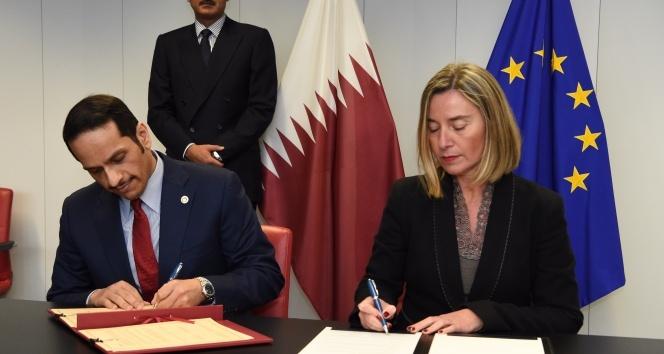 Katar ile AB arasında işbirliği anlaşması