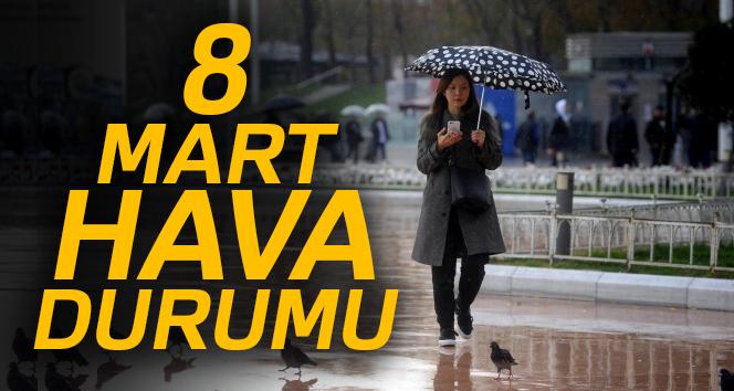 İstanbul için uyarı! Sağanak yağış geliyor   8 Mart 2018 Perşembe hava durumu
