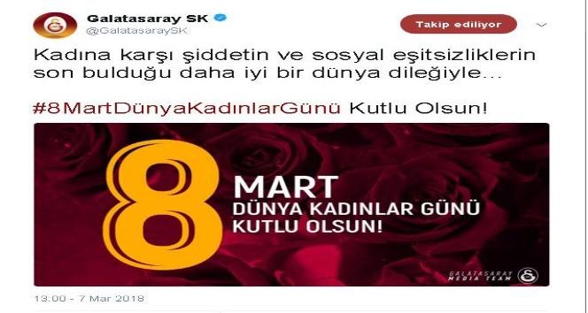 Galatasaray, Beşiktaş ve Fenerbahçe'den 'Kadınlar Günü' mesajı