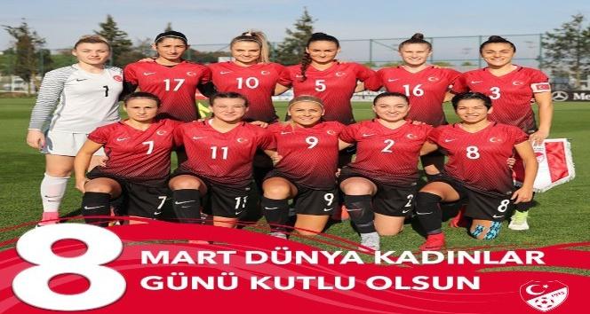 Türkiye Futbol Federasyonu 'Kadınlar Günü'nü unutmadı