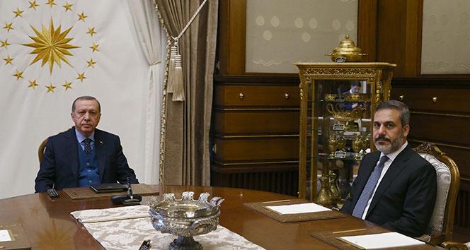 Cumhurbaşkanı Erdoğan, MİT Müsteşarı Fidanı kabul etti!