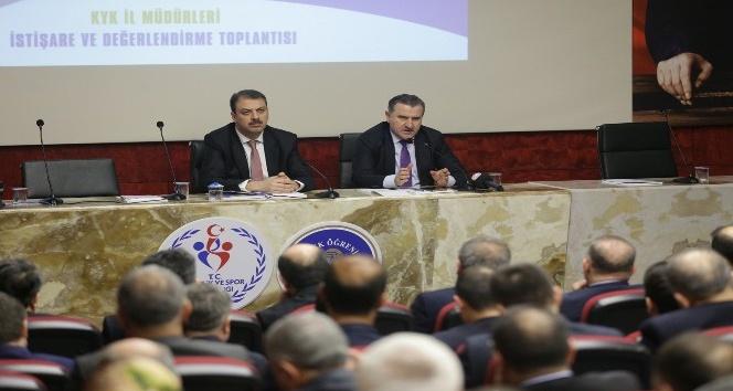 Bakan Osman Aşkın Bak, KYK il müdürleri ile bir araya geldi