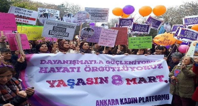 Başkent'te Kadınlar Günü kutlandı