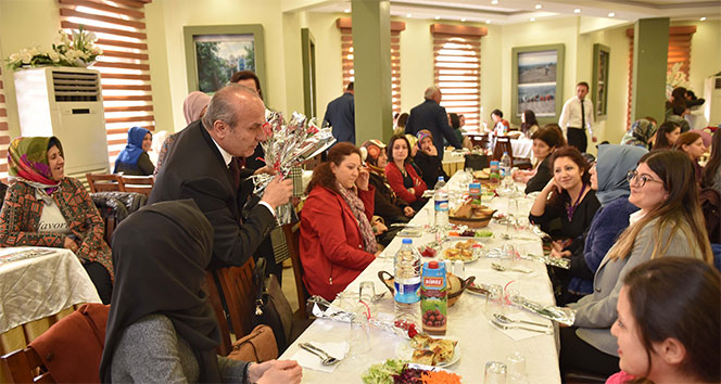 Başkan Arslan, kamu kurumundaki bayanlarla bir araya geldi