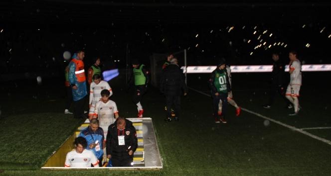 Tatil edilen MKE Ankaragücü - Adanaspor maçı yarın oynanacak