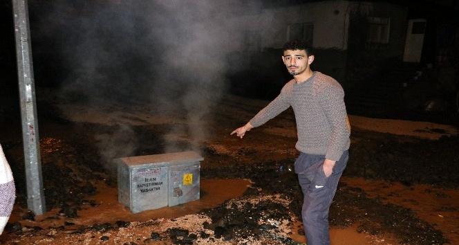 Yozgat'ta elektrik baksından çıkan duman paniğe neden oldu