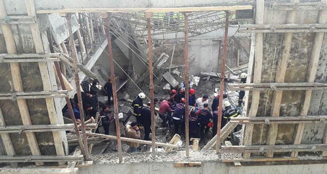 Kahramanmaraşta inşaatta göçük: 2 ölü