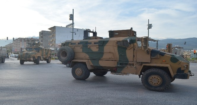 Mayına dayanıklı kirpiler Afrin'e sevk ediliyor