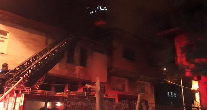 Tokat'ta kullanılmayan evde yangın