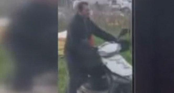 Çalınan lokanta motosikletini tanıyan müşteriler, hırsızı böyle kaydetti