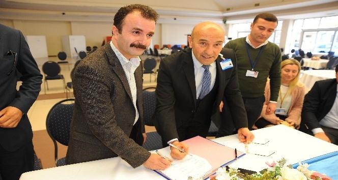 Seferihisar Belediyesinde sözleşme sevinci