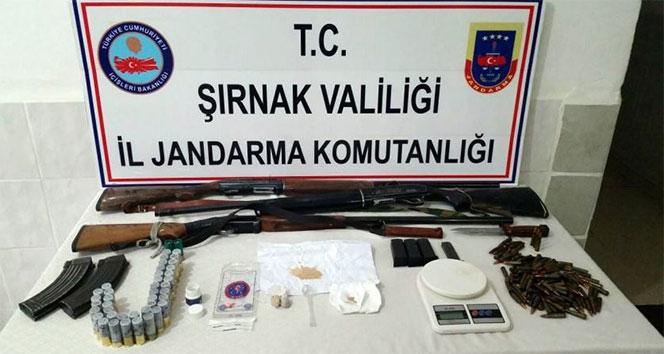 Şırnakta uyuşturucu tacirlerine operasyon: 7 gözaltı