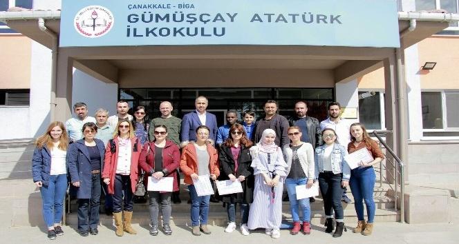 Biga'da yabancı dil olarak Türkçe öğretimi tamamlandı