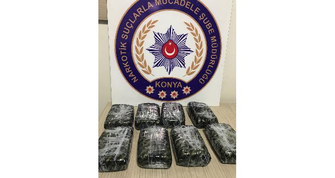 Konya'da 4,5 kilo eroin ele geçirildi