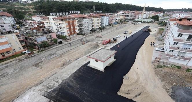Manavgat'ta asfaltlama çalışmaları