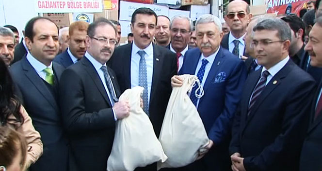 Türkiyenin 81 ilinden Afrine yardım tırları gidiyor