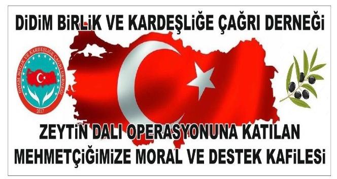 Didim'den Mehmetçiklere  moral ziyareti gerçekleştirilecek