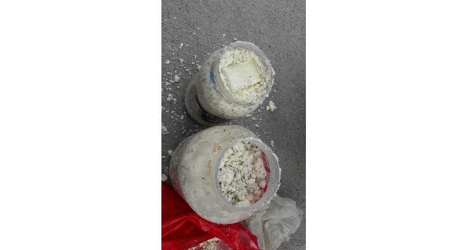 Peynir bidonunda uyuşturucu çıktı