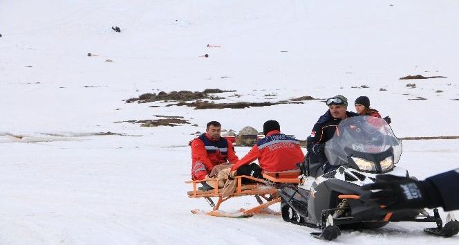 Bingöl'de helikopter kazası ve çığ tatbikatı