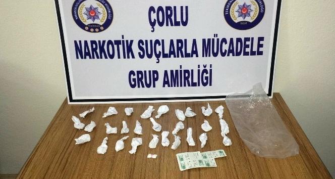 Çorlu'da satışa hazır uyuşturucu madde ele geçirildi
