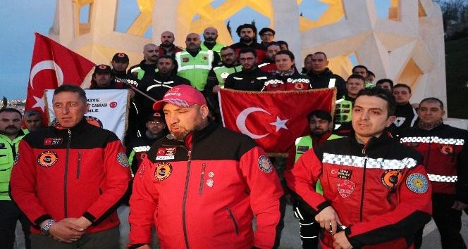 Motosikletliler Afrin'e destek için İstanbul'dan yola çıktı