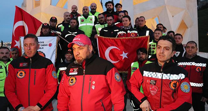 Motosikletliler Afrine destek için İstanbuldan yola çıktı