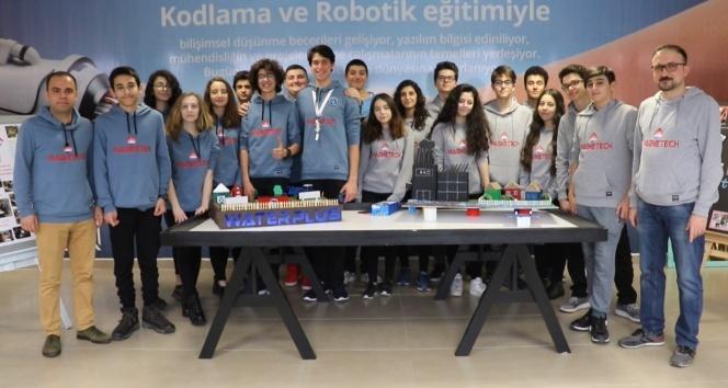 Lise öğrencilerinden su tasarrufu yapan robot ve uygulama