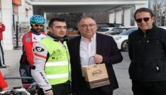 Başkan Salman, Bolulu bisikletçileri Çanakkaleye uğurladı