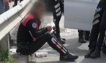 'Dur' ihtarına uymayan sürücü aracını polislerin üzerine sürdü!