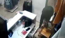 Bozuk paraları beğenmeyen hırsız kamerada