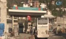 Sarp Sınır Kapısında sistemin aksaklığı tır şoförlerini isyan ettirdi