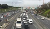 Haliçte trafiği kilitleyen kaza