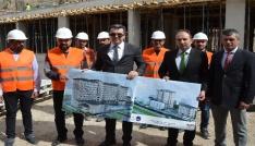 Gümüşhanede bin 300 kişilik kız yurdu inşaatı devam ediyor