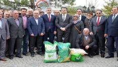 Gümüşhanede çiftçilere 102,3 ton yem bitkisi tohumu dağıtıldı