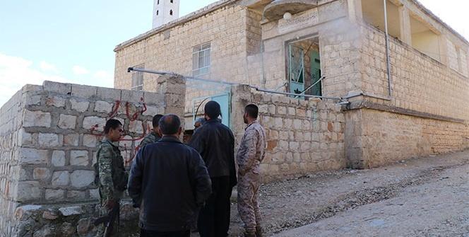 Afrin'de camiyi terör karargahına çevirmişler
