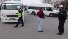 Aksarayda toplu taşıma araçları denetlendi