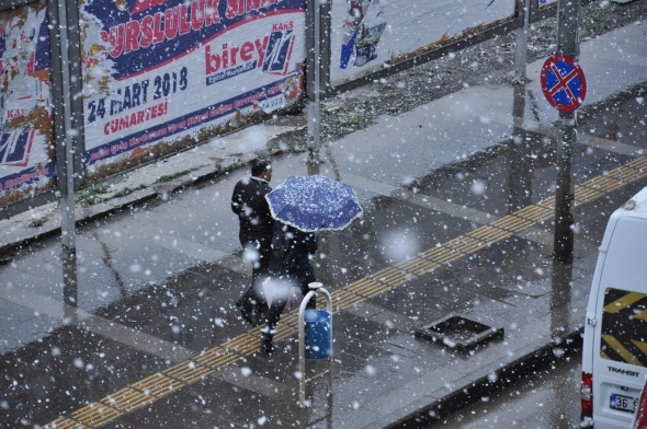 Kars'ta Nisan karı sürprizi