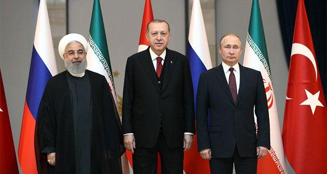 Üçlü zirve sonrası Erdoğan, Putin ve Ruhaniden ortak açıklama