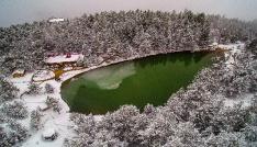 Limni Gölünden büyüleyici hava görüntüleri