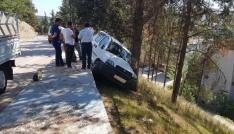 Hafif ticari aracı yuvarlanmaktan ağaç kurtardı