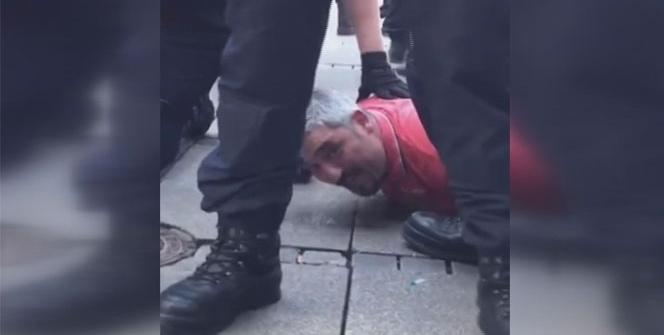Alman polisi, PKK yandaşlarına tepki gösteren Türk'ü ayaklar altına aldı